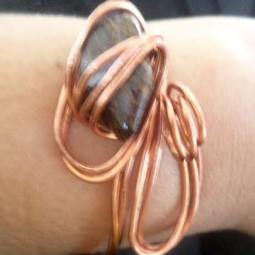 Pulseira regulável cobre com bronzita
