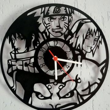 Relogio Naruto em mdf