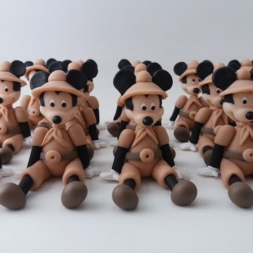 Miniaturas do Mickey Safari em Biscuit