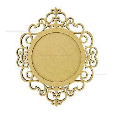 Quadro Redondo Espelho Borda Trabalhada