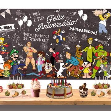 Chalkboard Festa Retro | ARTE DIGITAL
