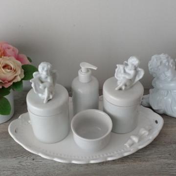 Kit Higiene C/ Potes Porcelana Anjo