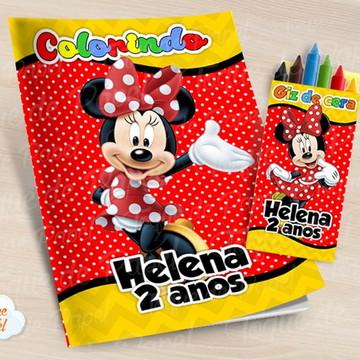 Kit colorir com giz de cera Minnie