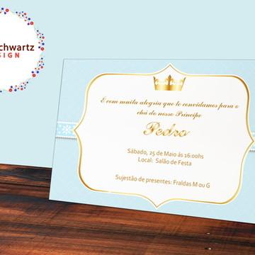 Convite Digital Coroa Azul