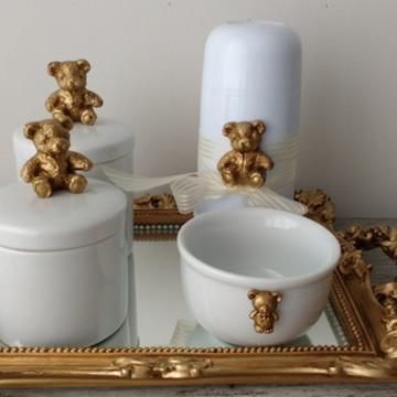 Kit Higiene com Potes Porcelana