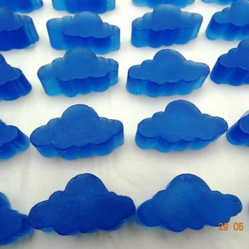 Mini mini nuvem azul transparente