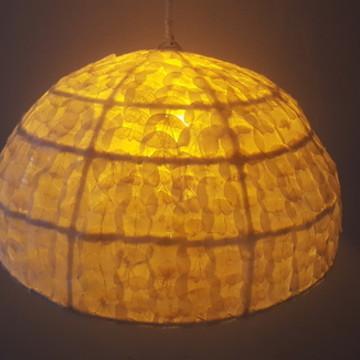 Luminárias Rusticas de teto escama