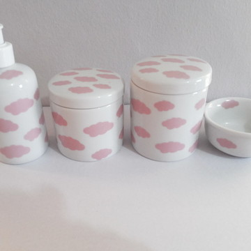 Kit Higiene Nuvem rosa ou azul