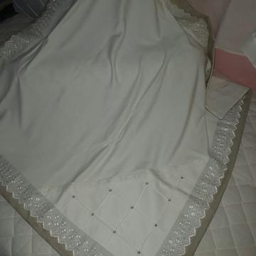 Manta Bebê em Malha Neutra Marfim castor