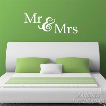 Adesivo Mr & Mrs - Senhor e Senhora