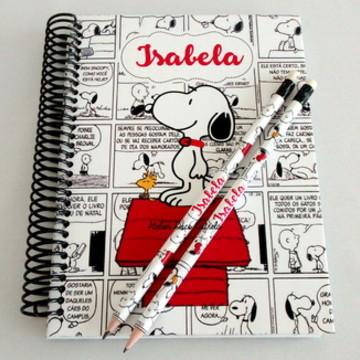 Caderno Personalizado do Snoopy