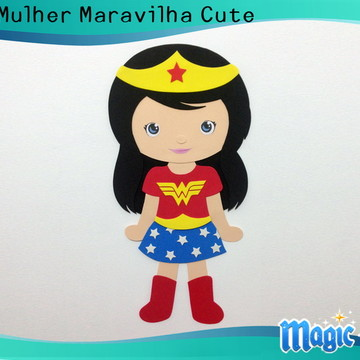 Painel Mulher Maravilha Cute