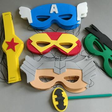 Máscara Super Heróis em Eva