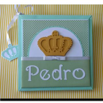Livro do Bebê Principe Majestade verde