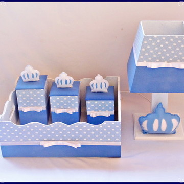 Kit higiene de MDF decorado