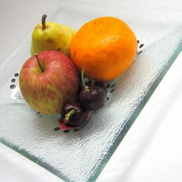 Decoração / Fruteira / Prato de Vidro / Decorativo