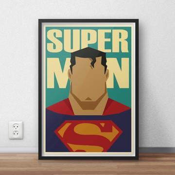 Quadro Super Heróis - Super Homem