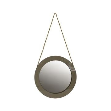 Espelho Redondo Bege Laca