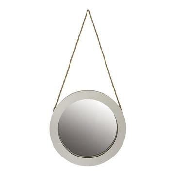 Espelho Redondo Branco Com Sisal
