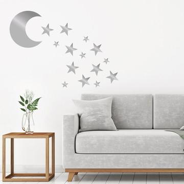 Adesivo Lua e Estrelas(Kit)