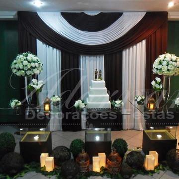 Aluguel Decoração Casamento Mesa de Vidro Aquário Marrom