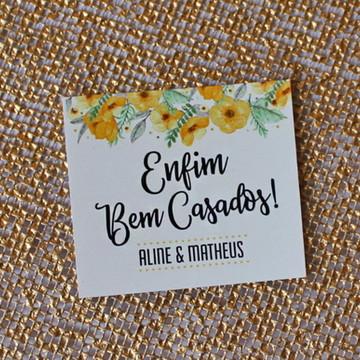 320 Tag Bem Casados - Flores Amarela