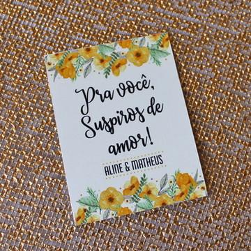 196 Tags Suspiro - Flores Amarela