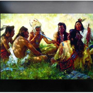 QUADRO DECORATIVO - INDIOS AMERICANO