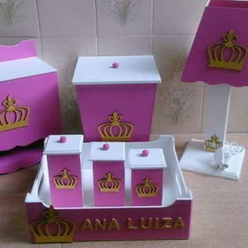 Kit Higiene para Bebê Príncesa Coroa