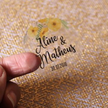 108 Adesivo Personalizado - Flores Amarela
