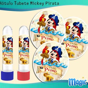 Rótulo Tubete Mickey Pirata