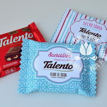 Dia da Secretária Chocolate Talento 25g - 100 uni