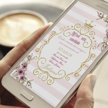 Convite Digital Realeza - Whatsapp