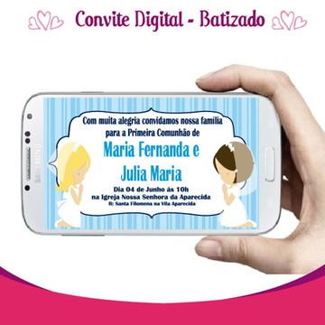 Convite Digital - Tema Batizado
