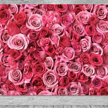 Painel Flores Rosas - Frete Grátis