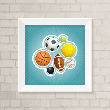 Quadro Infantil - Esportes