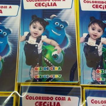 Revista p/ colorir + giz - Monstros SA