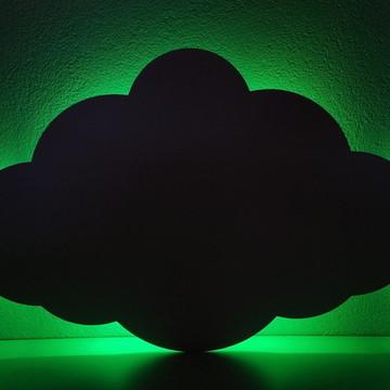 Nuvem em mdf cru com LED em 3 cores