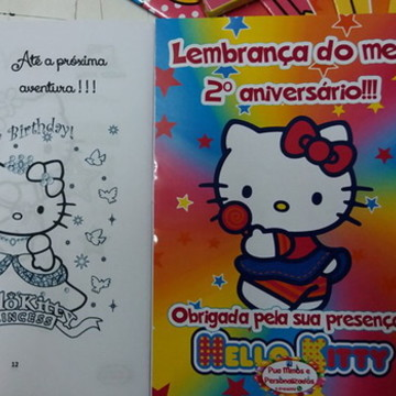 Revistinha para colorir - Hello Kitty