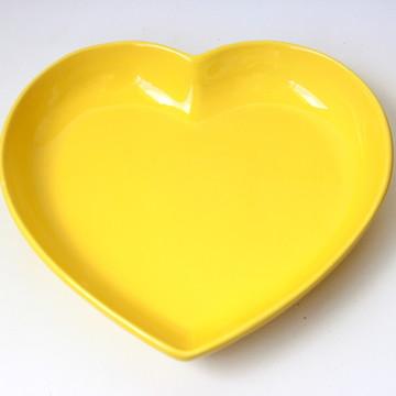 Tigela coração grande - Amarela