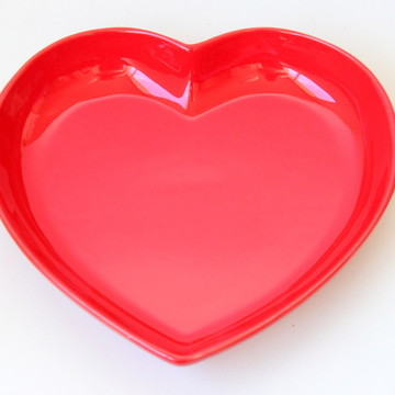 Tigela coração grande - Vermelha