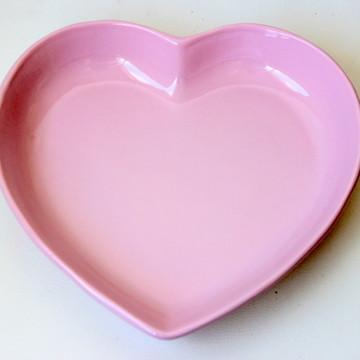 Tigela coração grande - Rosa