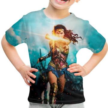 Camiseta Infantil Mulher Maravilha Md02