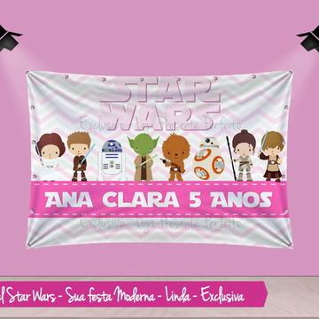 Painel para Aniversario Star Wars Baby