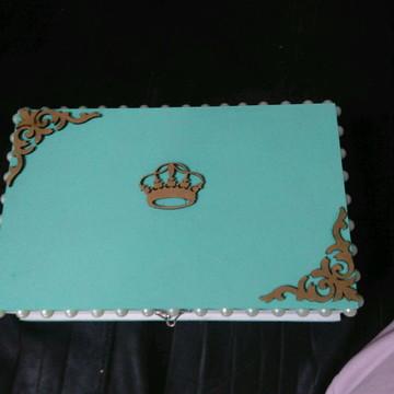 Caixa porta jóias Mdf decorada presente