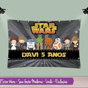 Painel de Aniversario Star Wars Baby
