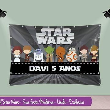 Banner de Aniversario Star Wars Baby