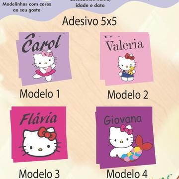 Adesivo Quadradinho-Hello Kitty