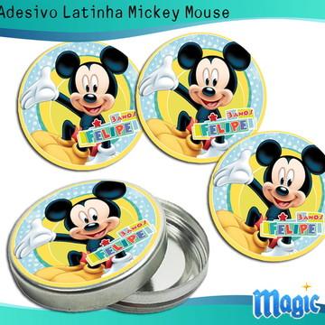 Adesivo Latinha Mickey Mouse