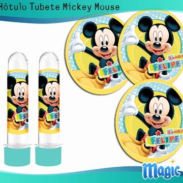 Rótulo Tubete Mickey Mouse